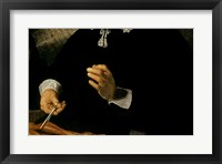 Framed Anatomy Lesson of Dr. Nicolaes Tulp, 1632 (hands detail)