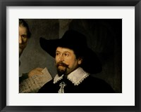 Framed Anatomy Lesson of Dr. Nicolaes Tulp, 1632 (man in hat detail)