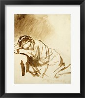 Framed Young Woman Sleeping