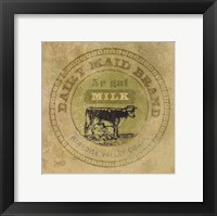 Framed Dairy Maid Brand