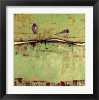 Framed Birds on Horizon in Green