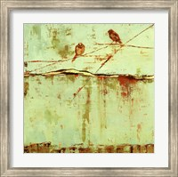 Framed Birds on Horizon in Blue