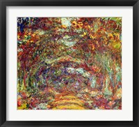 Framed Rose Path, Giverny, 1920-22