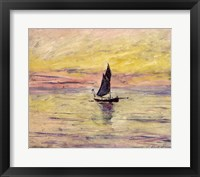 Framed Sailing Boat, Evening Effect, 1885