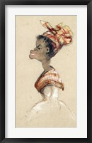 Framed Black Woman Wearing a Headscarf, 1857