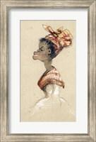 Framed Black Woman Wearing a Headscarf, 1857