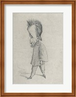 Framed Caricature of the Journalist Theodore Pelloquet, 1858