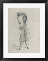 Caricature of the Journalist Theodore Pelloquet, 1858 Framed Print