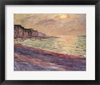 Framed Beach at Pourville, Setting Sun