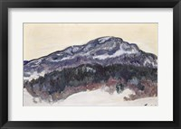 Framed Mount Kolsaas, Norway, 1895