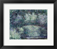 Framed Japanese Bridge - blue