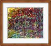 Framed Japanese Bridge at Giverny - abstract