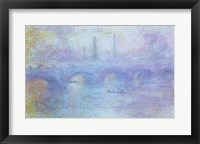 Framed Waterloo Bridge, Effect of Fog, 1903