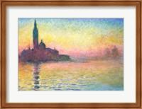 Framed San Giorgio Maggiore by Twilight, 1908