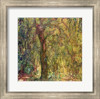 Framed Weeping Willow green