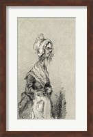 Framed Old Woman from Normandy in Profile, 1857