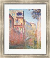 Framed Venice - Rio de Santa Salute, 1908