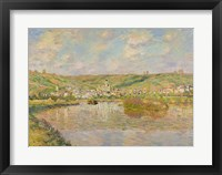 Framed Late Afternoon, Vetheuil, 1880