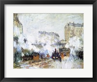 Framed Exterior of the Gare Saint-Lazare, Arrival of a Train