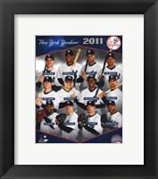 Framed New York Yankees 2011 Team Composite