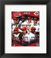 Framed Cincinnati Reds 2011 Team Composite