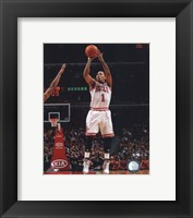 Framed Derrick Rose 2010-11 in action