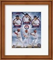 Framed Texas Rangers 2011 Triple Play Composite