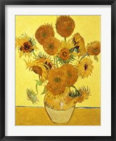 Framed Sunflowers, 1888 yellow