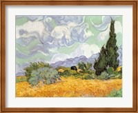 Framed Wheatfield with Cypresses, 1889