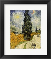 Framed Road with Cypresses, 1890