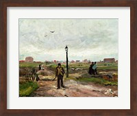 Framed Outskirts of Paris, 1886