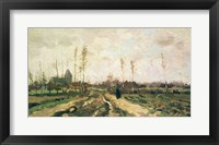 Framed Landscape with a Church and Houses, Nuenen, 1885