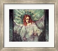 Framed Head of an Angel, after Rembrandt, 1889