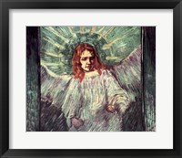 Framed Head of an Angel, after Rembrandt, 1889