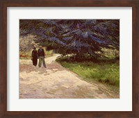 Framed Couple in the Park, Arles, 1888