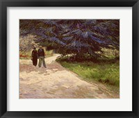 Framed Couple in the Park, Arles, 1888