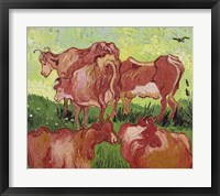 Framed Cows, 1890
