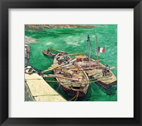 Framed Landing Stage with Boats, 1888