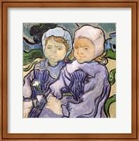 Framed Two Little Girls, 1890