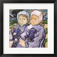 Framed Two Little Girls, 1890