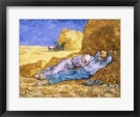 Framed Noon, or The Siesta, after Millet, 1890