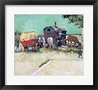 Framed Caravans, Gypsy Encampment near Arles