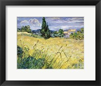 Framed Landscape with Green Corn, 1889