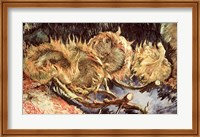 Framed Four Withered Sunflowers, 1887