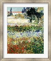 Framed Garden in Bloom, Arles, 1888