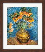 Framed Crown Imperial Fritillaries in a Copper Vase, 1886