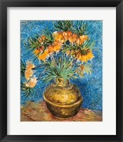 Crown Imperial Fritillaries in a Copper Vase, 1886 Framed Print