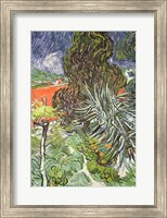 Framed Garden of Doctor Gachet at Auvers-sur-Oise, 1890