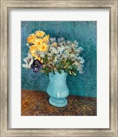 Framed Vase of Flowers, 1887
