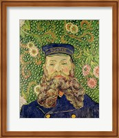 Framed Portrait of the Postman Joseph Roulin, 1889